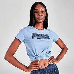 Women's Puma Denim Logo T-Shirt