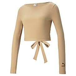 Women's Puma Classics Ribbed Long-Sleeve Top