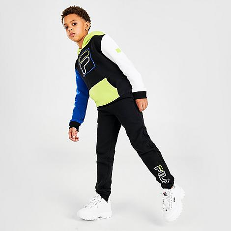 Fila FILA BOYS' LITTLE KIDS' CARLO COLORBLOCK PULLOVER HOODIE AND JOGGER PANTS SET