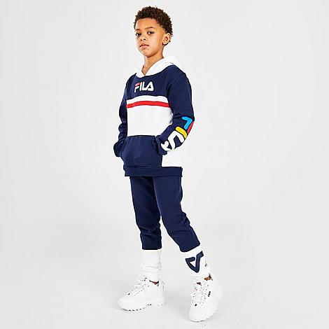 Fila Sets FILA BOYS' LITTLE KIDS' ANSEL PULLOVER HOODIE AND JOGGER PANTS SET