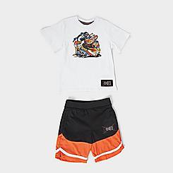 Boys' Little Kids' Fila Sneakerhead T-Shirt and Shorts Set