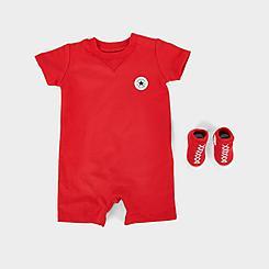 Infant Converse Lil Chuck Taylor Romper and Sock Set