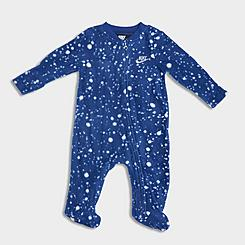 Infant Nike Confetti Footed Coverall Onesie