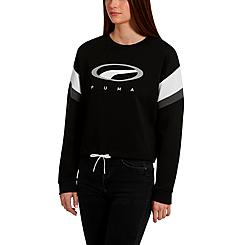Women's Puma '90s Retro Crop Crewneck Sweatshirt
