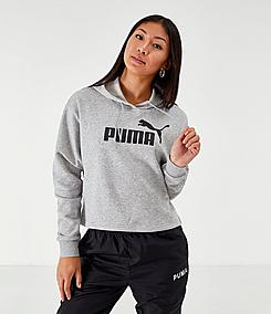 Women's Puma Elevated Essentials Cropped Fleece Hoodie