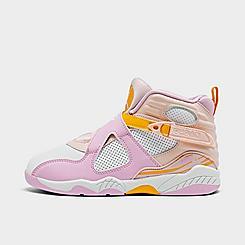 Girls' Little Kids' Air Jordan Retro 8 Basketball Shoes