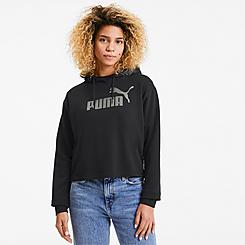 Women's Puma Essential Metallic Cropped Hoodie