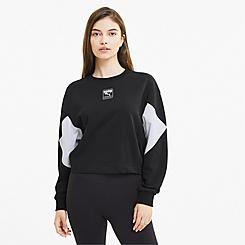 Women's Puma Rebel Crew Cropped Training Sweatshirt