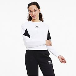 Women's Puma Rebel Crew Fleece Cropped Sweatshirt