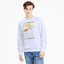 Men's Puma Rebel Crew 5 Continent Crewneck Sweatshirt