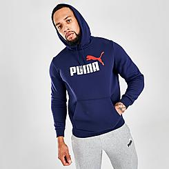 Men's Puma Essentials+ Two-Tone Big Logo Hoodie