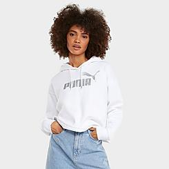 Women's Puma Essentials+ Metallic Logo Hoodie