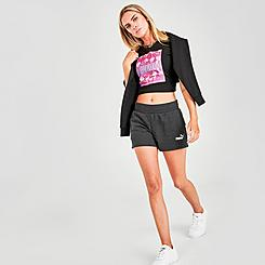 Women's Puma Essentials 4 Inch Sweat Shorts