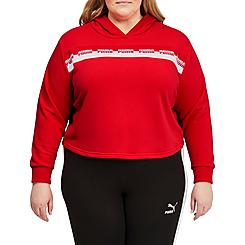 Women's Puma Amplified Cropped Training Hoodie (Plus Size)