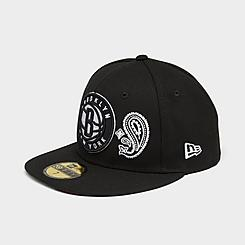 New Era Brooklyn Nets NBA Patchwork Undervisor 59Fifty Fitted Hat