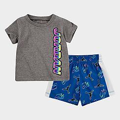 Boys' Infant Jordan Sticker T-Shirt and Shorts Set