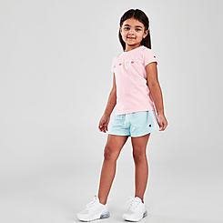 Girls' Little Kids' Champion Colorblock Script T-Shirt and Shorts Set