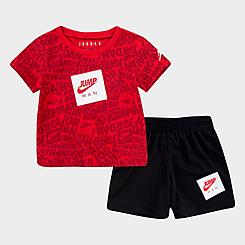 Boys' Infant Jordan Jumpman AOP T-Shirt and Shorts Set
