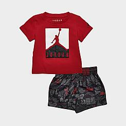 Boys' Infant Jordan Boxed Logo T-Shirt and AOP Doodle Print Shorts Set