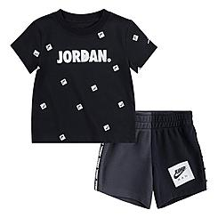 Boys' Infant Jordan Jumpman Post It AOP T-Shirt and Shorts Set