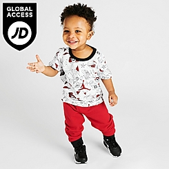 Boys' Infant Jordan Flight AOP T-Shirt and Jogger Pants Set