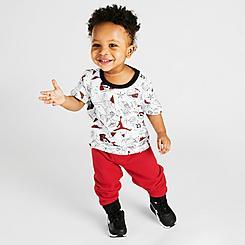 Boys' Infant Jordan Flight AOP T-Shirt and Jogger Pants Set