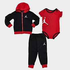 Boys' Infant Jordan Greatest Jumpman Full-Zip Hoodie, Jogger Pants and Bodysuit Set (3-Piece)