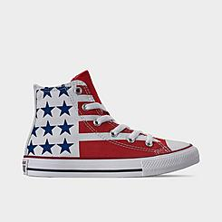 Big Kids' Converse Chuck Taylor Stars and Stripes High Top Casual Shoes