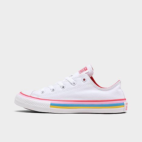 Converse CONVERSE GIRLS' BIG KIDS' CHUCK TAYLOR ALL STAR MULTI STRIPE CASUAL SHOES