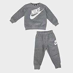 Kids' Infant Nike Futura Crewneck Sweatshirt and Joggers Set