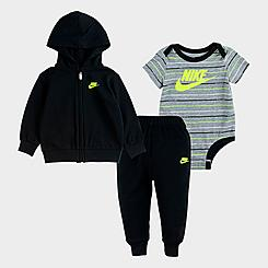 Boys' Infant Nike Striped 3-Piece Full-Zip Hoodie and Jogger Pants Set