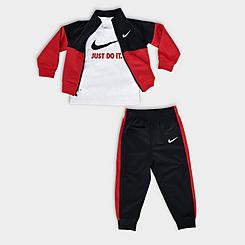 Boys' Infant Nike Tricot 3-Piece Track Set and T-Shirt