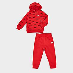 Boys' Infant Nike AOP Pullover Hoodie and Jogger Pants Fleece Set