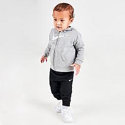 Boys' Infant Nike Swooshfetti Parade 3-Piece Full-Zip Hoodie, Jogger Pants and Long-Sleeve Bodysuit Set (Sizes 12M-24M)
