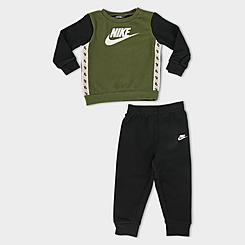 Infant Nike Elevated Trim Crewneck Sweatshirt and Pants Set