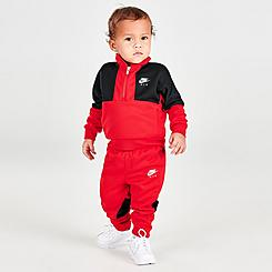 Boys' Infant Nike Air Tricot Half-Zip Top and Joggers Set