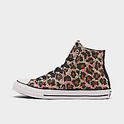 Girls' Big Kids' Converse 8-Bit Leopard Print Chuck Taylor All Star Casual Shoes