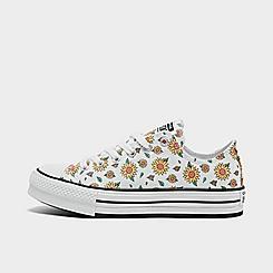 Girls' Big Kids' Converse Sunflower EVA Platform Chuck Taylor All Star Casual Sneakers