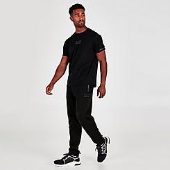 Men's EA7 Emporio Armani Taped Outline Logo Jogger Pants