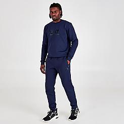 Men's EA7 Emporio Armani Silicone Logo Jogger Pants