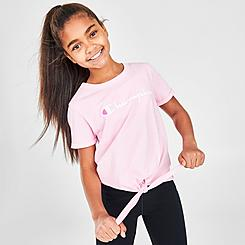 Girls' Champion Script Tie-Front T-Shirt