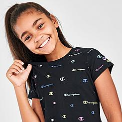 Girls' Champion Printed Multi Script Logo T-Shirt