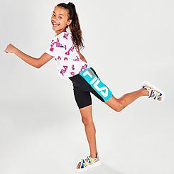 Girls' Fila High-Waisted Bike Shorts