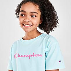 Girls' Champion Script Boxy T-Shirt