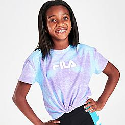 Girls' Fila Cropped Tie-Front T-Shirt