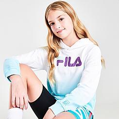 Girls' Fila Dip-Dye Cropped Hoodie