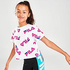 Girls' Toddler Fila Allover Logo Graphic T-Shirt