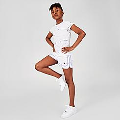 Girls' Champion Allover Logo Varsity Woven Shorts