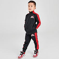 Boys' Toddler Jordan Classics Tricot Full-Zip Jacket and Jogger Pants Set