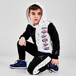 Boys' Toddler Jordan Space Glitch Colorblock Pullover Hoodie and Jogger Pants Set